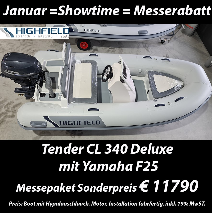 Highfield Tender CL 340 Deluxe mit Yamaha F25